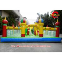China Childrens PVC Inflatable Bounce House With Slide For Disney Theme Park on sale