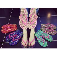 Quality Sweet Smell Womens Thong Flip Flops , Ladies Beach Flip Flops Slippers Open Toe for sale