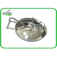 Buy 304 316L Stainless Steel Manhole Cover Sanitary Elliptical Shape For Hygienic Tank Vessels at wholesale prices