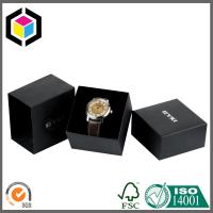 Quality 9x9x6cm Branded Kraft Paper Packaging Watch Box; Custom Logo Watch Gift Box for sale