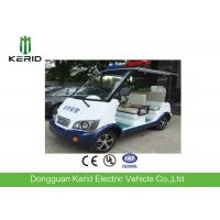 Quality Classic 4 Seater Electric Sightseeing Car With Top Alarm Lamp For Security Patrol for sale
