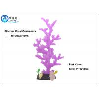 Buy Purple Decorative Aquarium Tank Decorations With Silicone Corals And Resin Base at wholesale prices