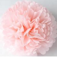 Quality Light Pink Party Decoration Paper Flower Tissue Paper Pom Poms Balls Craft for sale