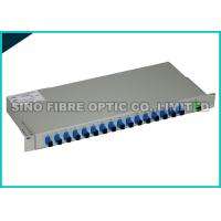 Quality SC APC White Metal Fiber Optic Patch Panel Rack Mount 16 Port 1310nm Wavelength for sale