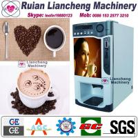 Quality instant coffee and tea vending machine Bimetallic raw material 3/1 microcomputer Automatic Drip coin operated instant for sale