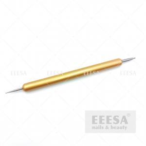 Quality Dual Head Steel Beads Picking Rhinestone Picker Gold Nail Art Dotting Tool for sale
