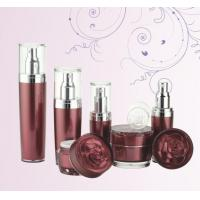 Quality empty high quality 100ml 60ml 30ml 15ml plastic cosmetic lotion bottle with rose cap for sale