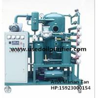 Quality ZJA Double Stage Cable Oil Cleaning Equipment,Transformer Oil Filtration Machine for sale
