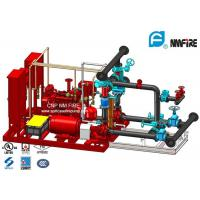 Quality Red 250GPM Skid Mounted Fire Pump Package With Electric / Diesel Engine for sale