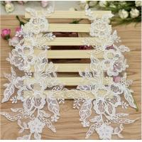 Quality Garment Accessories Embroidery Lace Applique with Cord  Ivory Color for sale