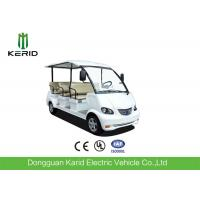 Quality 4 Wheel Left Hand Drive 48V Electric Sightseeing Car For Amusement Parks for sale