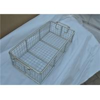 Quality Rugged Stainless Steel Wire Mesh Basket With Moved Handle For Fruit for sale