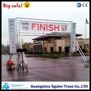 Quality Spigot Finish Line Frame Lighting Gantry Systems Banner For Marathon Easy To Install for sale