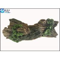 Buy Hollow Log Tree Aquarium Ornament With Green Plants , Custom Tropical Fish Tank at wholesale prices