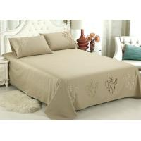 Quality Lightweight Fabric Luxury Sheet Sets / Duvet Covers Embroidered Cotton Sheets for sale