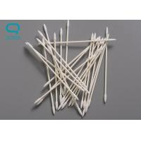 Quality Purified Disposable Cotton Cleaning Swabs Double Head With Non Abrasive Tip for sale
