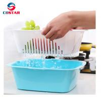 Buy cheap Household water-draining plastic utensils basket vegetable and fruit drainer from wholesalers