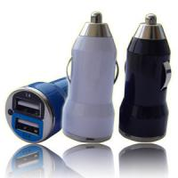 Quality Li-Lon Dual Port USB Car Charger 5V / 1A / 2.1A For Apple / Samsung / Smartphone for sale
