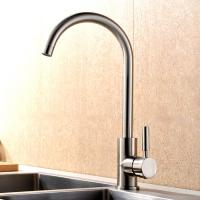 Quality Durable Single Handle Kitchen Faucet Brushed Plated Finishing Simple Style for sale