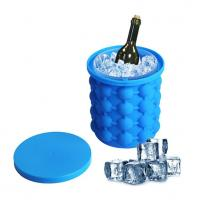 China Huge Silicone Ice Cube Molds Can  Bucke Custom Colors For Cooling Wine on sale