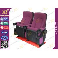Quality OEM Folded 3d 4d 5d Movie Theater Chairs Red Color Movie Theatre Furniture for sale