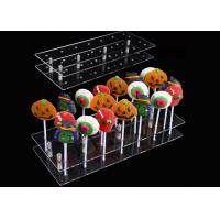 Quality 20 Hole Acrylic Lollipop Display Stand Cake Pop Stand Holder For Party Decoration for sale