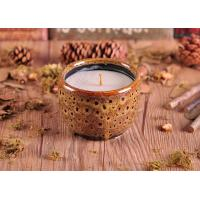 Quality ASTM Test Passed Amber Glazed Ceramic Candle Holder with low MOQ for sale