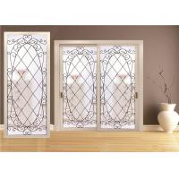 Quality Double Pane Sliding Glass Door Hollow Stained Glass Panels Air / Argon Insulating for sale
