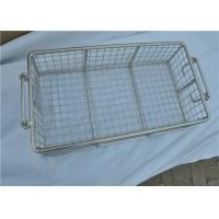 Quality Stainless Steel Metal Wire Basket With Handle For Put Storage for sale