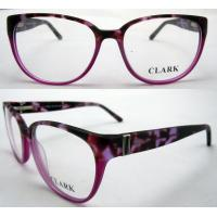 Quality Red Round Fashion Eyeglasses Frames With Demo Lens Protect Eyes for sale