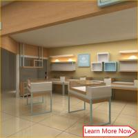 Quality Luxury Modern Jewellery Shop Counter / Jewellery Showroom Furniture for sale