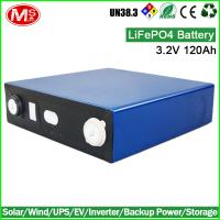 Quality solar battery pack 3.2V 120Ah lifepo4 battery cell for electric forklift for sale