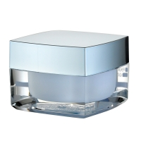 Quality JL-JR807 Cream Acrylic PMMA 15g 30g 50g Cosmetic Packaging Jars for sale