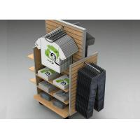 Buy cheap Strong Flooring Slatwall Shelves Shop Display Stands With Silver Aluminum Slot from wholesalers