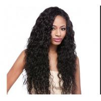 Buy Water Wave / Kinky Curly Human Hair Wigs 100% Brazilian Wig , Hair Extension Double Wefted at wholesale prices