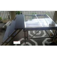 Buy 1.22 X 1.22 M Aluminum / Glass / Acrylic Stage Platform 3 Steps Stair at wholesale prices