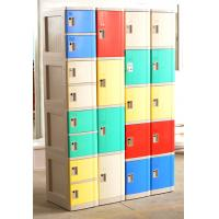 Quality Cell Phone Lockers With Chargers , 10 Tier Beige / Blue / Red Single Tier Lockers for sale