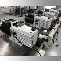 DRV16 0.55KW Lubricated Rotary Vane Vacuum Pump Dual Stage White Color