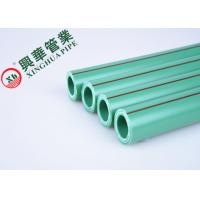 Quality Green / White PPR Aluminum Pipe Polypropylene Raw Material Easy To Install for sale