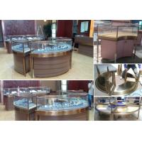 Quality Elegant Design Countertop Jewelry Display Cases Stable Stainless Steel Frame Wood for sale