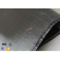 Quality Plain Weave Silver Plated Fabric 3K 240g Carbon Fiber Fabric For Surface Decoration for sale