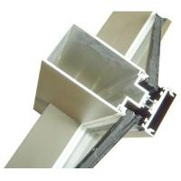 Quality Aluminum Curtain Wall Extruded Profiles with cutting , drilling for sale