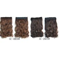 Quality 16 Inch Curling Synthetic Hair Extensions Clip In Tangle Free For Lady for sale