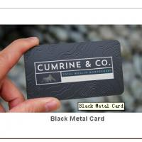 Quality Black Metal Card for sale