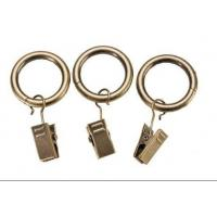 Quality Iron curtain pole rings with clips for sale