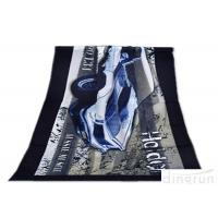 China Super Soft Durable Velour Beach Towels Personalized For Family on sale
