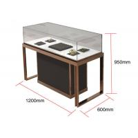 Quality Brown + Mirror Rose Gold Jewelry Display Cases , Diamond Jewelers for sale