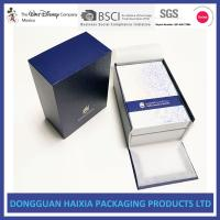 China Blue And White Rigid Gift Boxes Light Weight Packaging Boxes For Cosmetics on sale