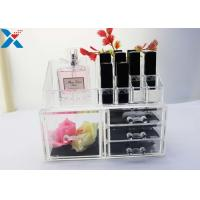 Quality Rectangle Acrylic Makeup Drawer Organizer / Acrylic Cosmetic Organiser ROHS Approved for sale