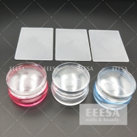 Quality Pink Fashion Nail Decoration 3.5Cm With Plate Jelly Head Stamper Plate Tools for sale